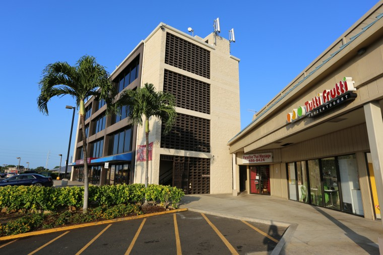 Photo of our building which is the old spa building by tutti frutti and spicy ahi